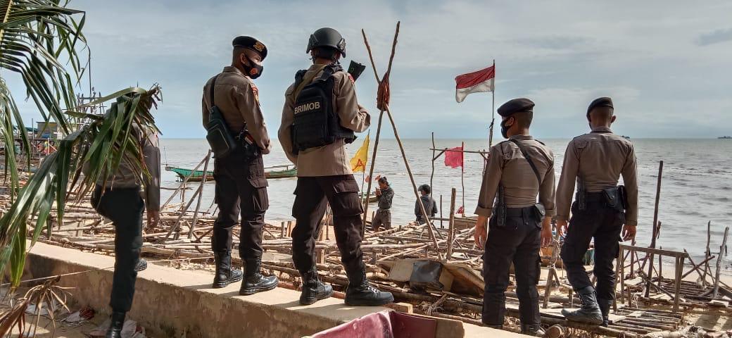 Non Stop 24 Jam Tim Operasi Gabungan Polri TNI Laksanakan Penertiban dan Pengamanan Perairan Laut Suka Damai Toboali