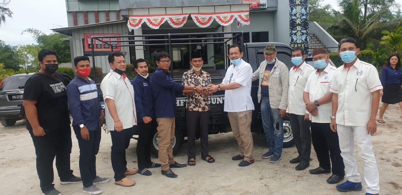 AITI Babel dan SMSI Bangka Belitung Beri Bantuan Satu Unit Mobil Ke Pesantren Tahfidz Quran
